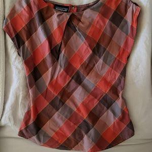 Patagonia plaid blouse small